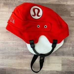 Lululemon Canada Red Hockey Helmet Hat
